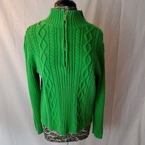 Chaps Green Zip Sweater Size XL